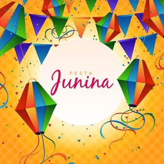 Realistisch festa junina-ontwerp