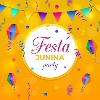 Realistisch festa junina-thema