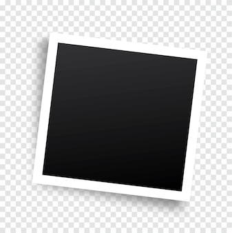Realistisch fotoframe met schaduw vector mockup geplaatst op transparant
