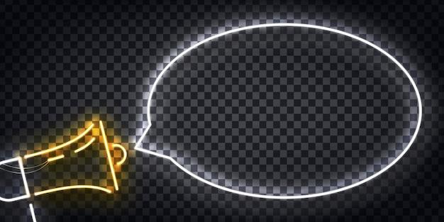Realistisch geïsoleerd neonteken van megafoonframe-logo voor sjabloondecoratie en uitnodigingsbedekking op de transparante achtergrond. concept van aanwerving, cv en carrière.