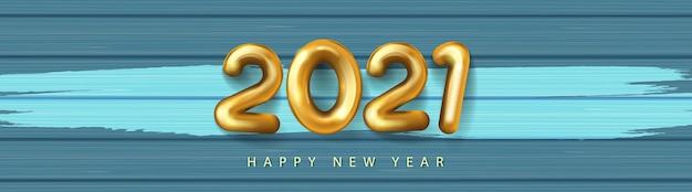 Realistisch gelukkig nieuwjaar gouden nummer