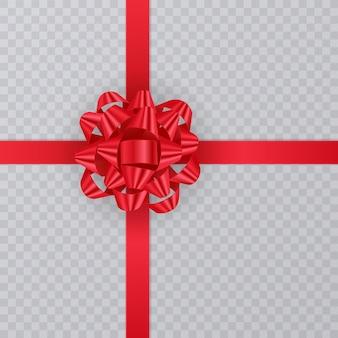 Realistisch geschenklint, rode strik