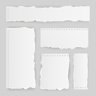 Realistisch gescheurd papieren pak