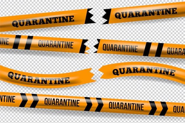 Realistisch gesneden quarantaineband