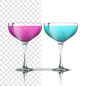 Realistisch glas met drankcocktail
