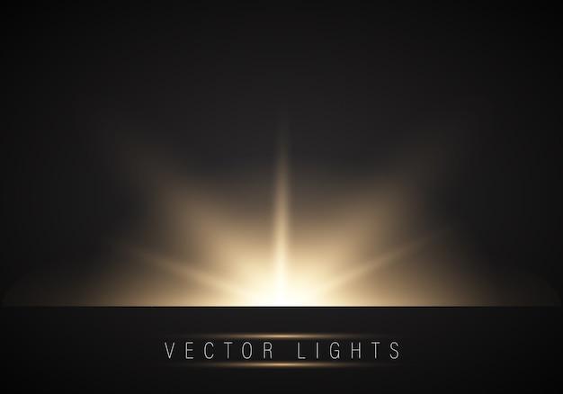 Realistisch gloeiend lichteffect