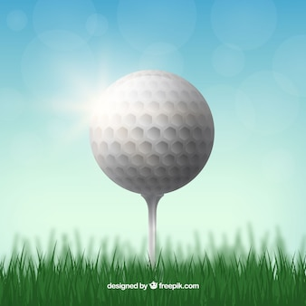 Realistisch golfbalontwerp