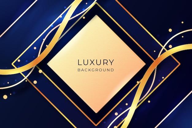 Realistisch gouden luxe achtergrondontwerp