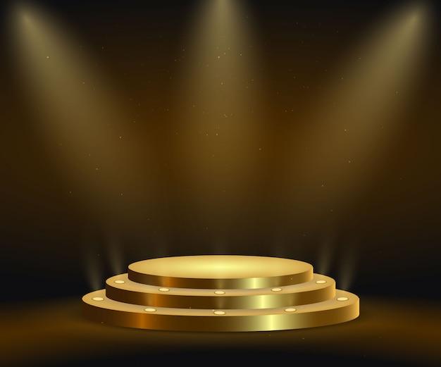 Realistisch gouden platform