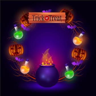Realistisch halloween-frame