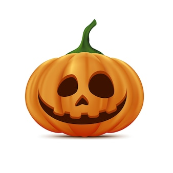 Realistisch halloween-pompoenconcept