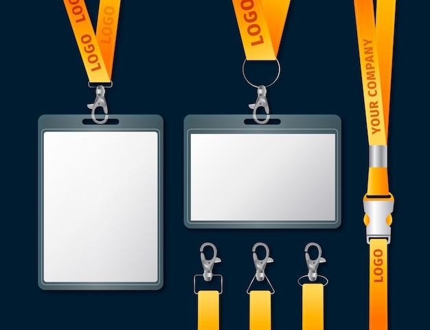 Realistisch id-kaart briefpapier concept