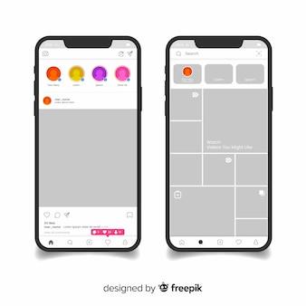 Realistisch instagram fotolijstje op de iphone-collectie