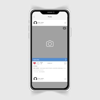 Realistisch instagram-fotolijstje op de iphone.