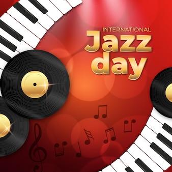 Realistisch internationaal jazzdagconcept