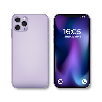 Realistisch iphone 11-apparaat