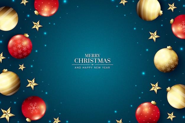 Realistisch kerstbehang in elegante stijl
