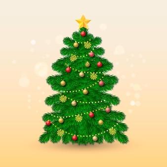 Realistisch kerstboomconcept