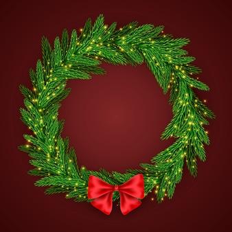 Realistisch kerstmiskroonconcept