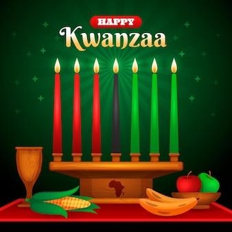 Realistisch kwanzaa-evenement met kaarsen