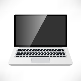 Realistisch laptop vooraanzicht