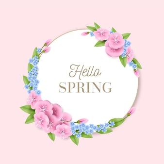 Realistisch lente bloemenframe