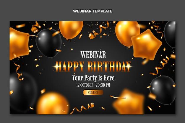 Realistisch luxe gouden verjaardagswebinar