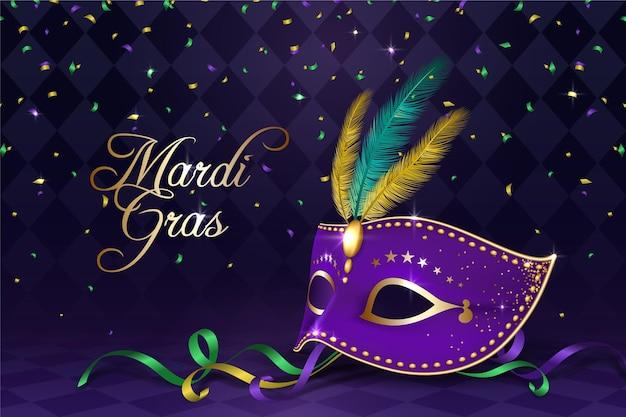 Realistisch mardi gras-concept