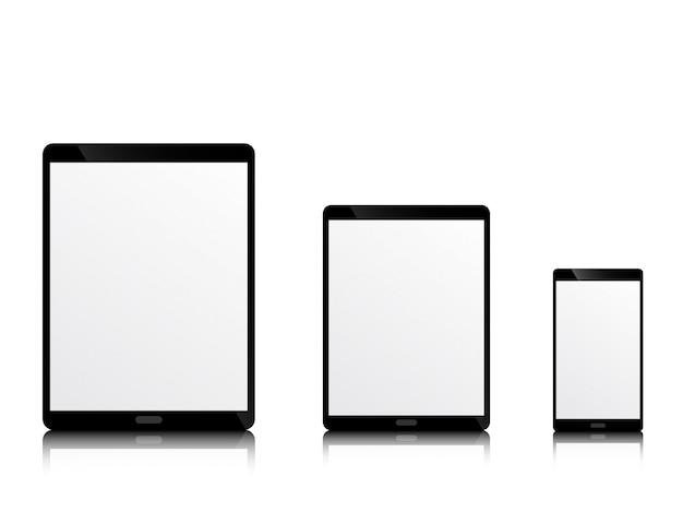 Realistisch modern mobiel apparaat met lege monitor