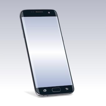 Realistisch nieuw zwart smartphoneapparaat