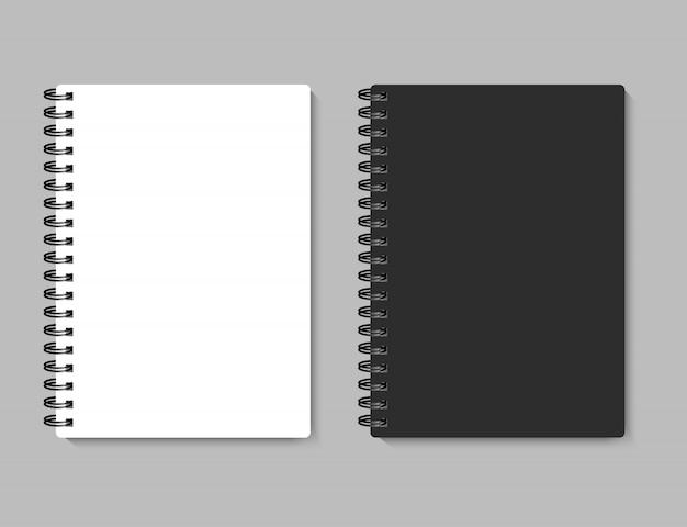 Realistisch notitieboekje voor uw afbeelding, illustratie.