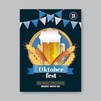 Realistisch oktoberfeestfestival