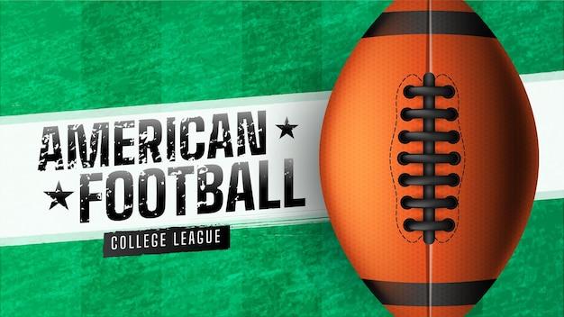 Realistisch ontwerp amerikaanse voetbalbanner