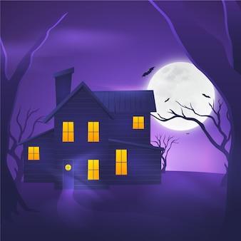Realistisch ontwerp halloween huis