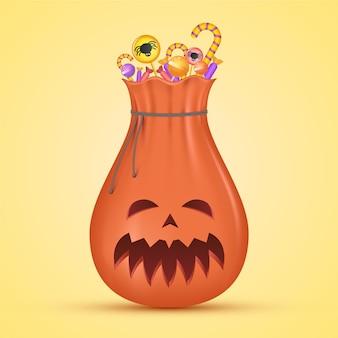 Realistisch ontwerp halloween tas