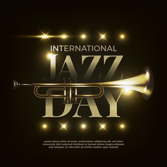 Realistisch ontwerp internationale jazzdag