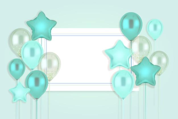 Realistisch ontwerp met ballonnen