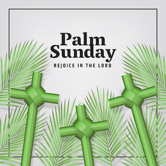 Realistisch palmzondagevenement