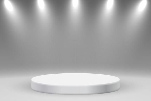 Realistisch platform of podium