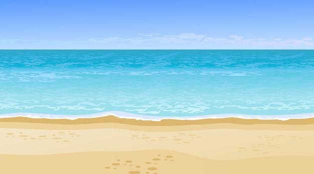 Realistisch prachtig uitzicht op zee. zomervakantie concept.