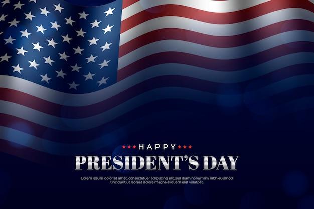 Realistisch president dag concept