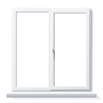 Realistisch pvc raam wit blanco