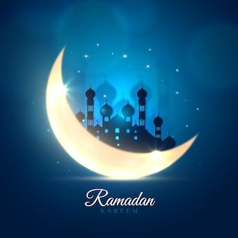 Realistisch ramadan achtergrondconcept