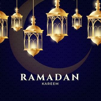 Realistisch ramadanconcept