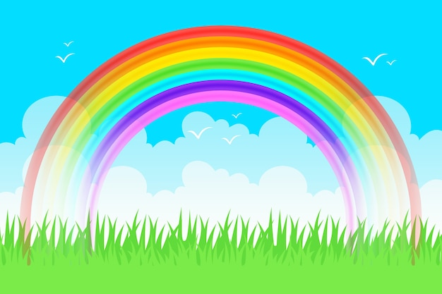 Realistisch regenboogconcept