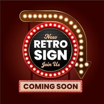 Realistisch retro teken