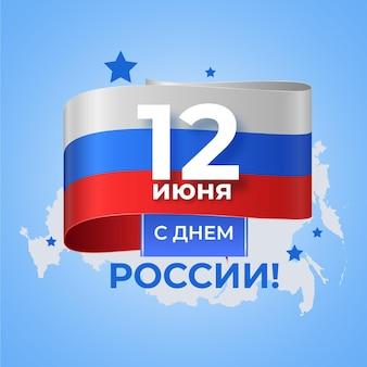 Realistisch rusland dag evenement concept