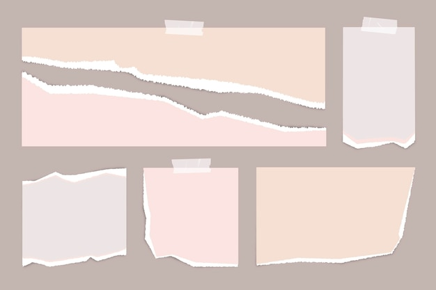 Realistisch scheurpapierpakket