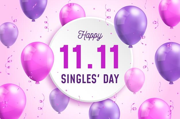 Realistisch singles dag concept