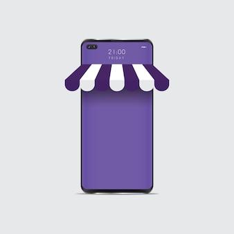 Realistisch smartphonemodel. cellphone frame met lege display geïsoleerd